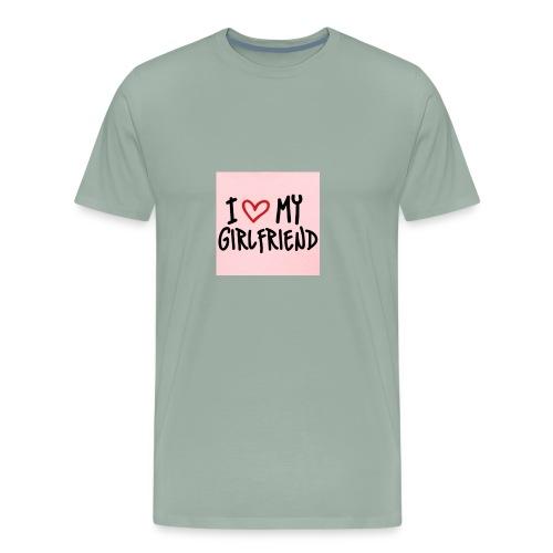 653653adc13d49ae1e3c535b7c9cfc73 i love my girlfr - Men's Premium T-Shirt
