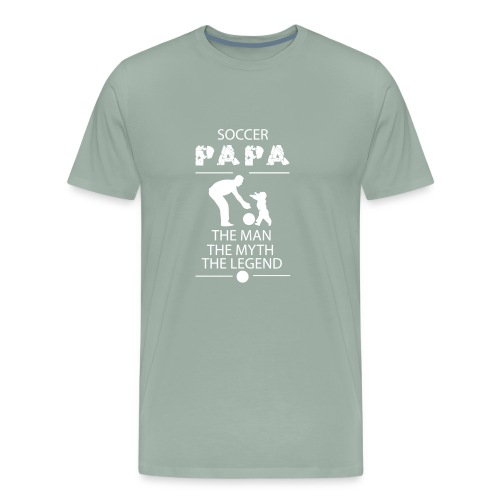 soccer papa tshirt - Men's Premium T-Shirt