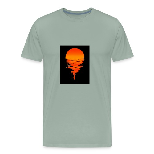 Sunset melting away - Men's Premium T-Shirt