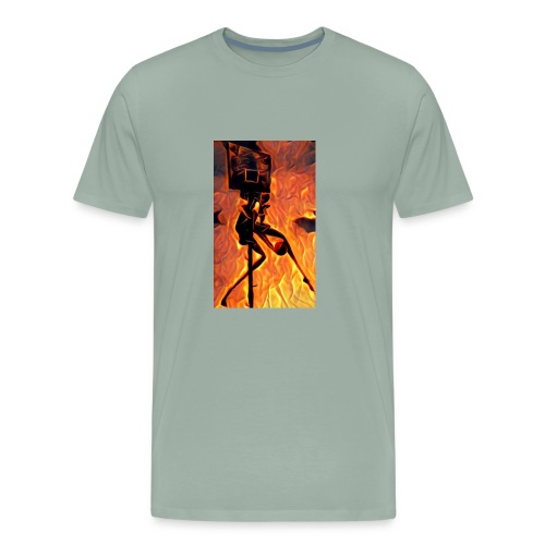 Fire Basketball Player - Men's Premium T-Shirt