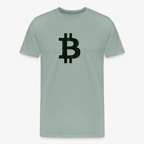 BTC Logo Matrix - Men's Premium T-Shirt