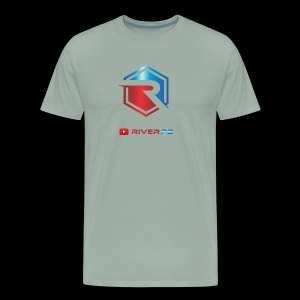 Red/Blue Logo with YouTube - Men's Premium T-Shirt