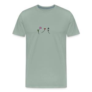 Doodle Flowers - Men's Premium T-Shirt