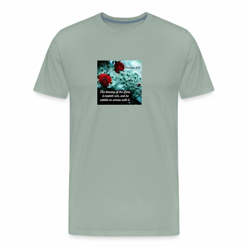 Proverbs 10:22 - Men's Premium T-Shirt