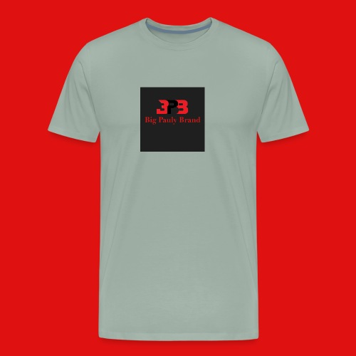 Big Pauly Brand Red Print With Logo - Men's Premium T-Shirt