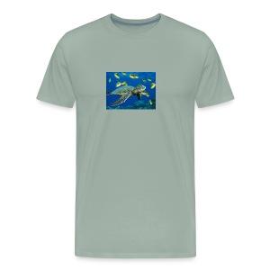 Green Sea Turtle - Men's Premium T-Shirt