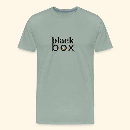 Black Box Hemp Logo Gold Drop - Men's Premium T-Shirt