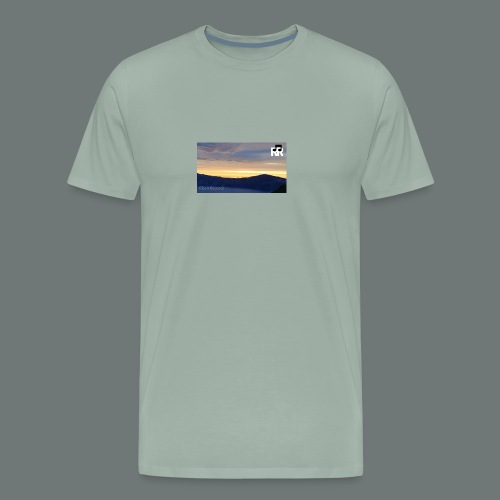 JAG RR Crater Lake before sunset - Men's Premium T-Shirt