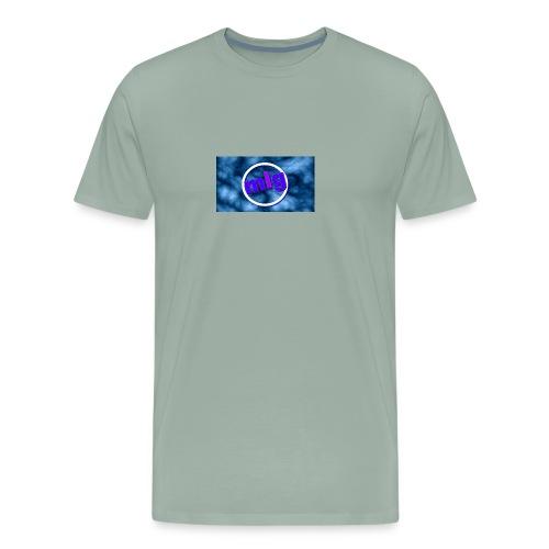 blue gothic grunge background3 - Men's Premium T-Shirt