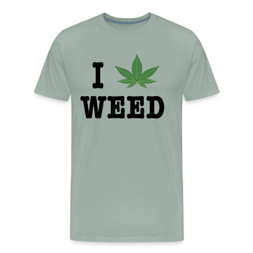 I LOVE WEED in black - Men's Premium T-Shirt