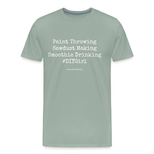 smoothie paint wood - Men's Premium T-Shirt