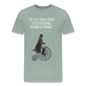 Life is like riding a bicycle - Men's Premium T-Shirt