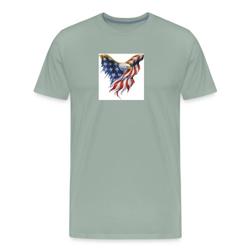 american flag bald eagle - Men's Premium T-Shirt