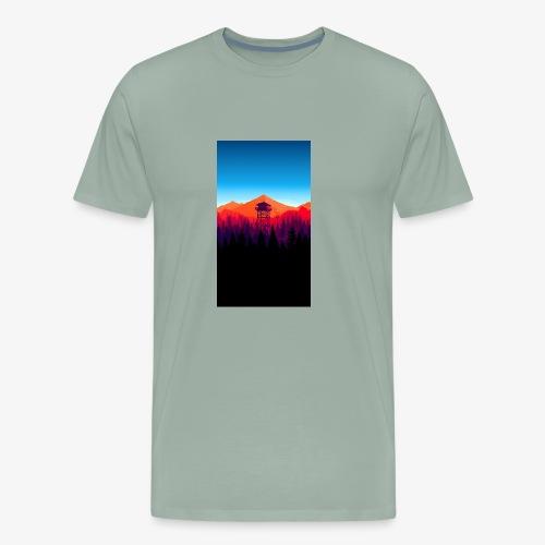 watch tower - Men's Premium T-Shirt