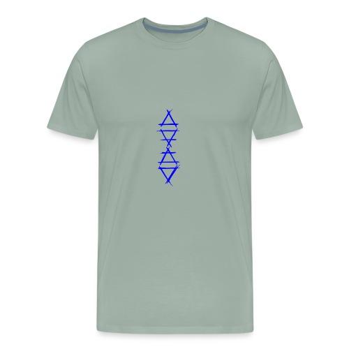 Alchemy symbol 4 elements blue - Men's Premium T-Shirt