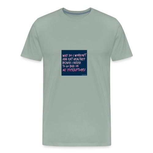 i refuse to go back - Men's Premium T-Shirt