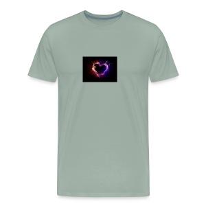 Heart with flames - Men's Premium T-Shirt