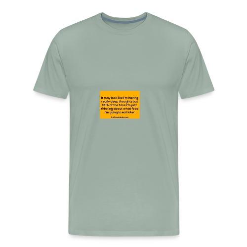 Food on my mind - Men's Premium T-Shirt