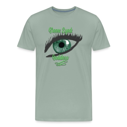 Green Eyed Goddess Humble Brag - Men's Premium T-Shirt