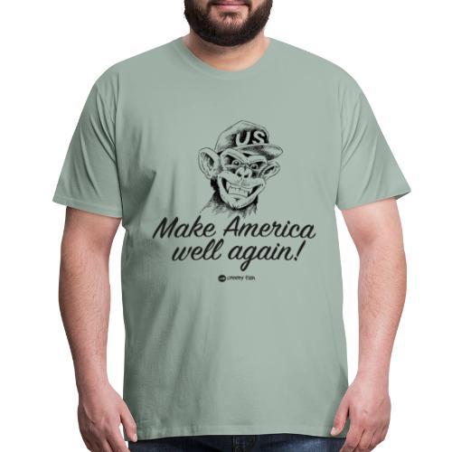 Make America well again - funny monkey design - Men's Premium T-Shirt