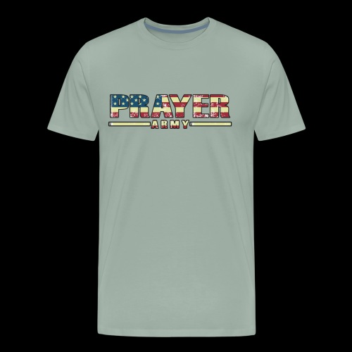 Prayer Army USA Flag - Men's Premium T-Shirt