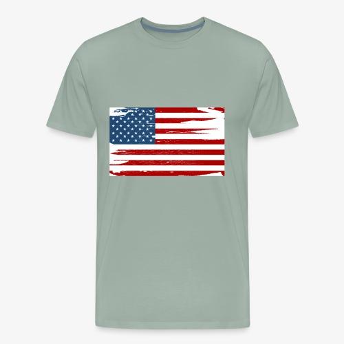 Bandera del Día de la Independencia de los Estados - Men's Premium T-Shirt
