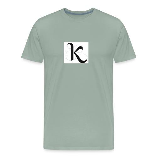 Fancy k stand for king - Men's Premium T-Shirt