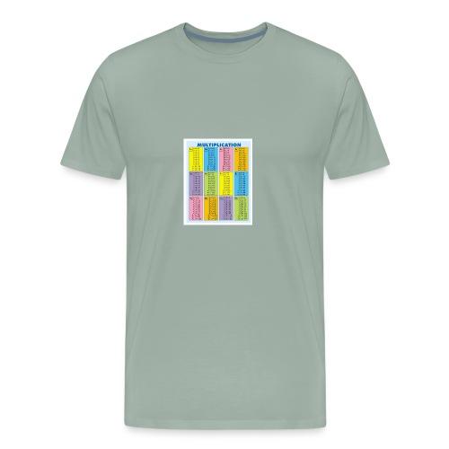 Multiplication Chart - Men's Premium T-Shirt