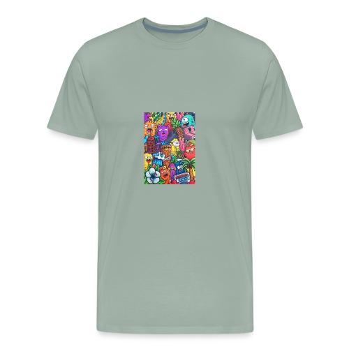 doodle art vexx - Men's Premium T-Shirt
