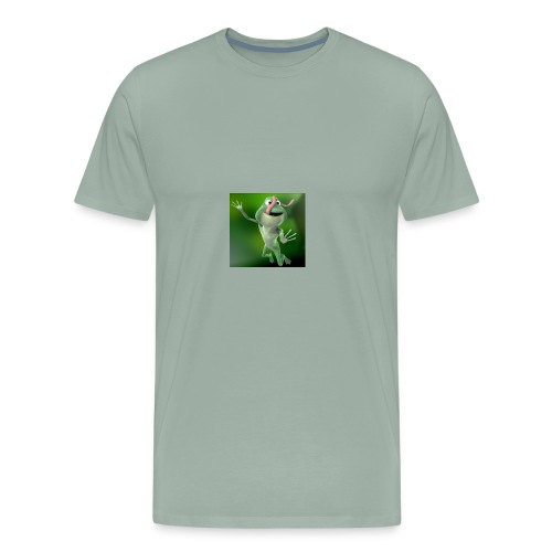 Capture 2017 12 08 17 31 39 1 green frog - Men's Premium T-Shirt