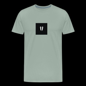 Small Black Box Divided Time Logo - Grey - Men's Premium T-Shirt