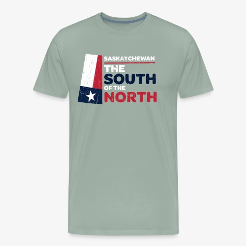 Saskatchewan: the South of the North (Texas ver) - Men's Premium T-Shirt
