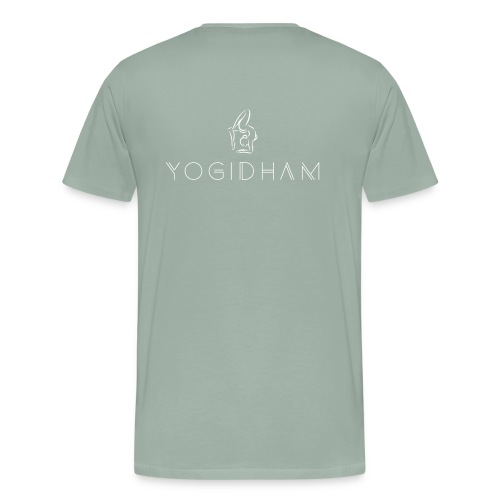 Yogidham White Logo - Men's Premium T-Shirt