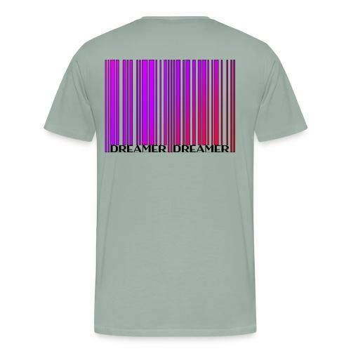 DREAMER Barcode (rainbow-black) - Men's Premium T-Shirt