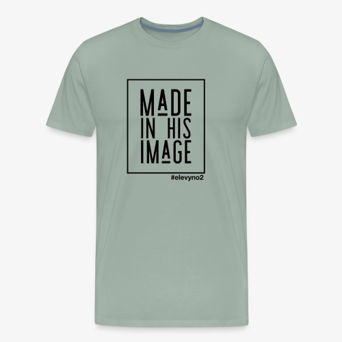 Made in His Image - Black - Men's Premium T-Shirt