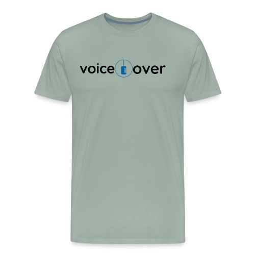 Voice Over w/ microphone - Men's Premium T-Shirt