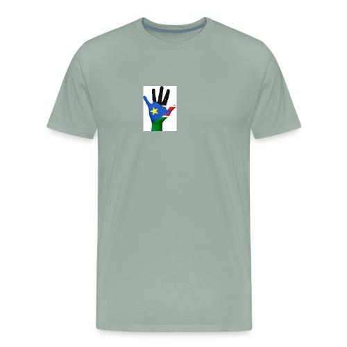 south sudan hand flag - Men's Premium T-Shirt