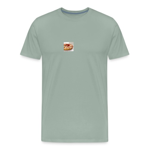 peach strawberry upside down cake 80 - Men's Premium T-Shirt