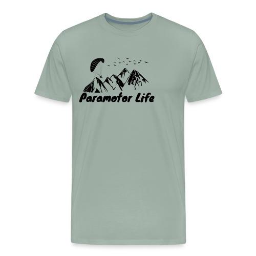 Paramotor Life Mountains Design - Men's Premium T-Shirt