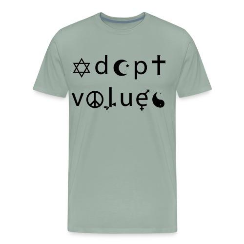 Adopt Values / Tolerance Parody / Coexist Parody - Men's Premium T-Shirt