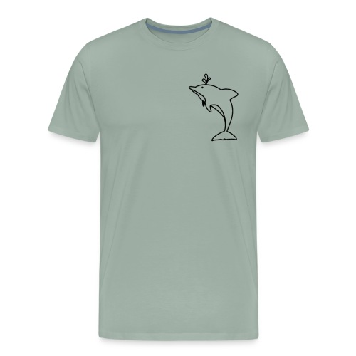 Pocket Dolphin Awesome Gift Idea for Dolphin Lover - Men's Premium T-Shirt