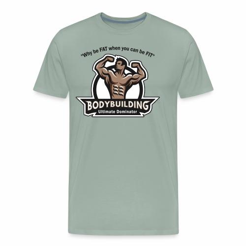 Ultimate Dominator Fitness Logo - Men's Premium T-Shirt