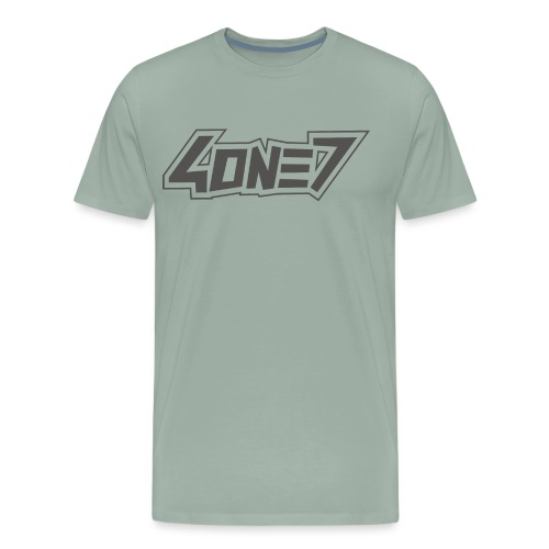 4one7 dope1 Grey png - Men's Premium T-Shirt