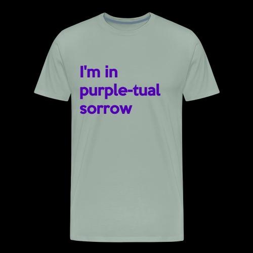 Purple-tual sorrow - Men's Premium T-Shirt