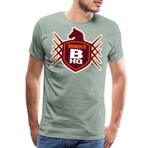 BroncosHQ Badge Logo - Men's Premium T-Shirt