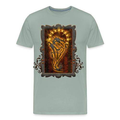 Awesome tribal dragon - Men's Premium T-Shirt