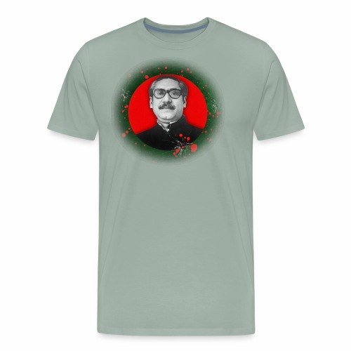 Bangabandhu inside red circle of flag - Men's Premium T-Shirt