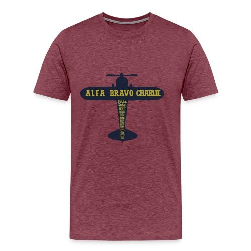 International Phonetic Alphabet Airplane - Men's Premium T-Shirt