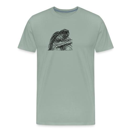 Black/ Kissing - Men's Premium T-Shirt