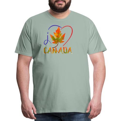 J'AIME LE CANADA - T-shirt premium pour hommes